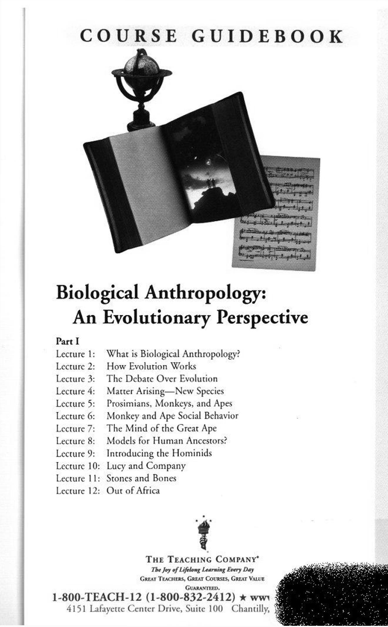 Biological Anthropolog An Evolutionary Perspective