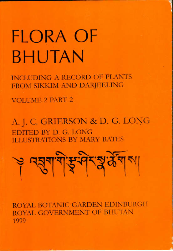 FLORA OF BHUTAN VOLUME 2 PART 2