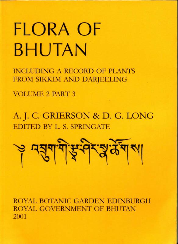 FLORA OF BHUTAN VOLUME 2 PART 3