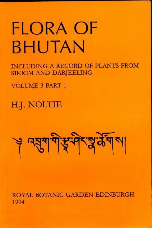 FLORA OF BHUTAN VOLUME 3 PART 1
