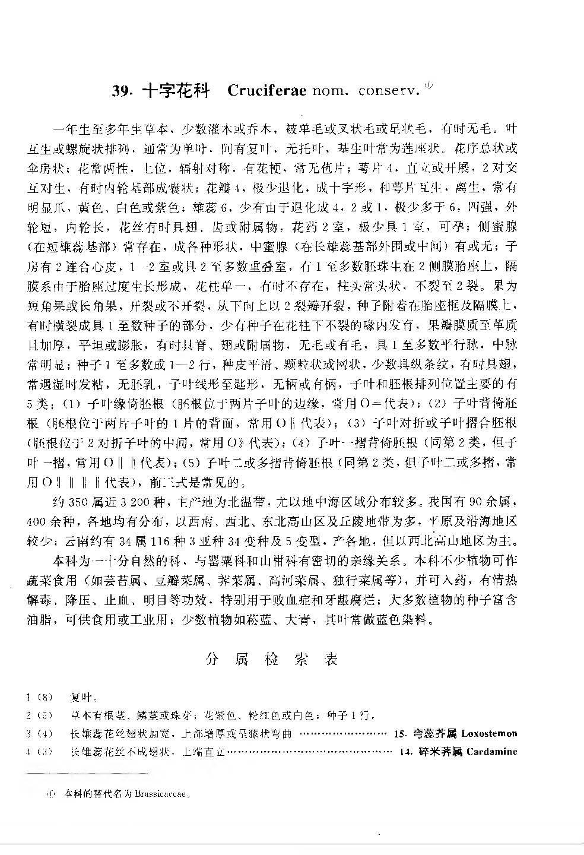 云南植物志 第六卷(种子植物)