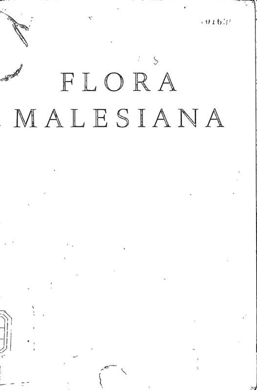 FLORA MALESIANA SeriesⅠSPERMATOPHYTA Vol.5 part 4