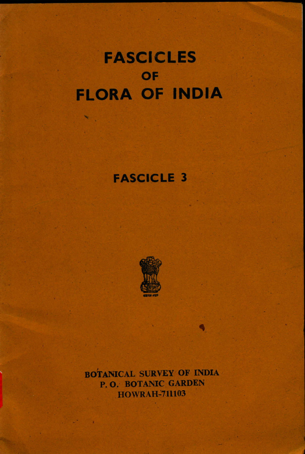 FASCICLES OF FLORA OF INDIA FASCICLE 3